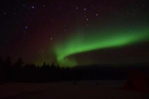 2月にカナダのホワイトホースで見たオーロラ